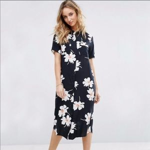 Asos Vila Floral Midi Dress
